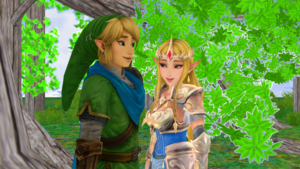 Link x Zelda Hyrule Warriors MMD saat time Wii U