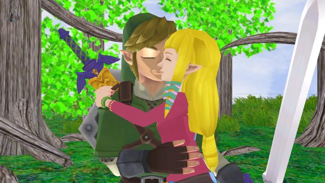 Link X Zelda Together Forever Skyward Sword Link And Zelda