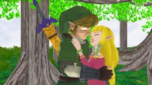Link x Zelda Together in Skyward Sword MMD