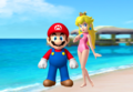 Mario and pêche, peach Summer Couple