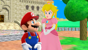 Mario and персик Together Forever MMD