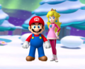 Mario and Peach Winter Couple
