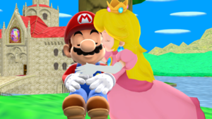 Mario x Princess melocotón MMD My True Hero
