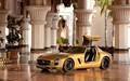 Mercedes-Benz SLS AMG (Gold) - mercedes-benz wallpaper