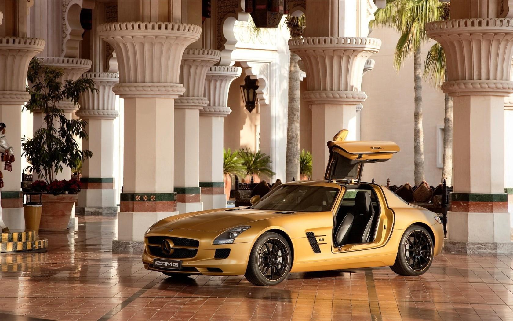 Mercedes Benz Images Mercedes Benz Sls Amg Gold Hd Wallpaper And