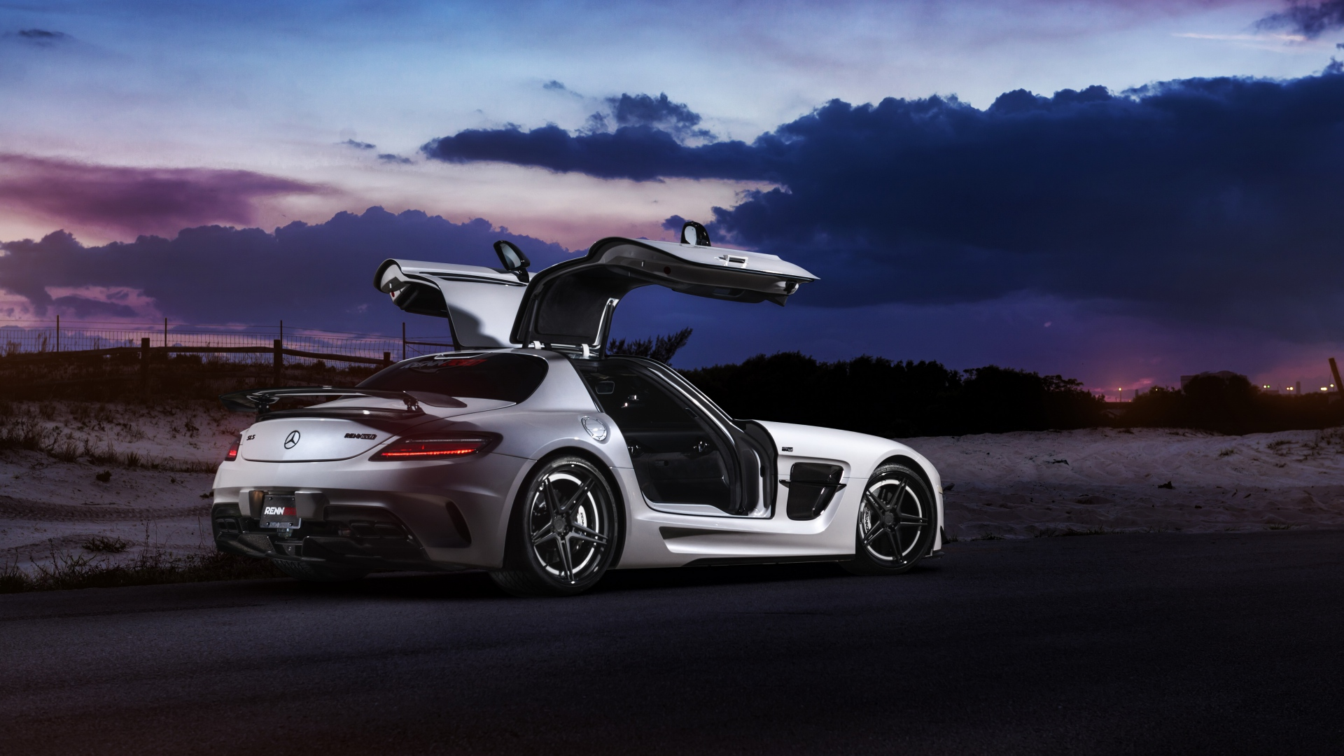 Mercedes Benz Images Mercedes Benz Sls Amg Renntech Tuning Night