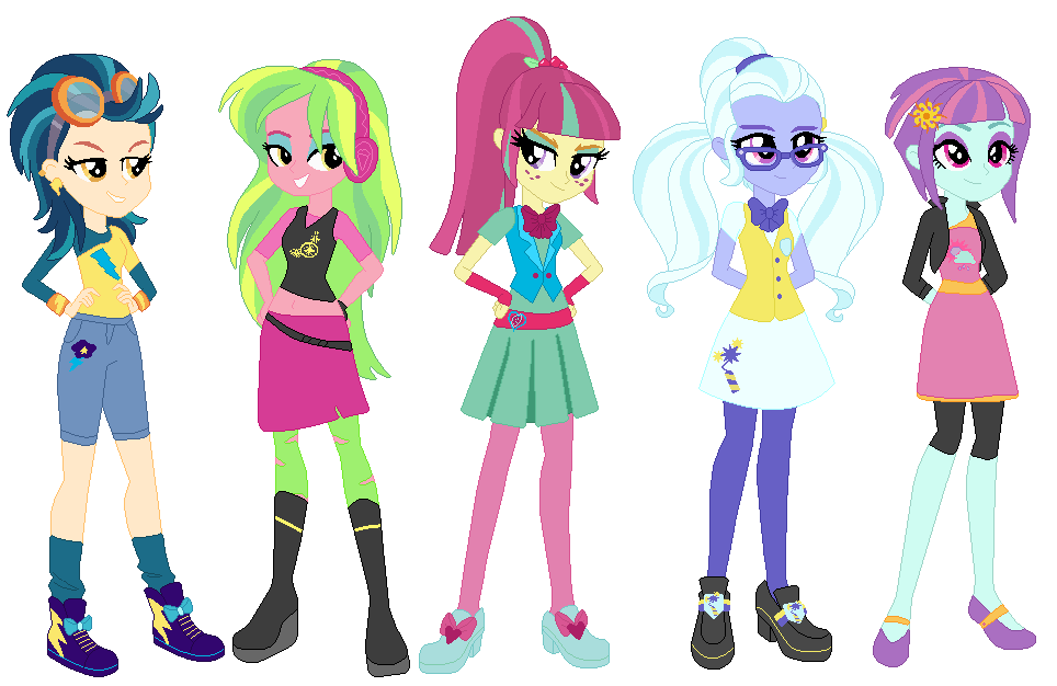 Mlp Equestria Girls Shadow Five S Off Campus Looks