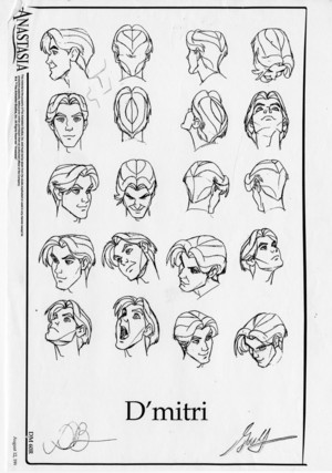 Model sheets for Anastasia