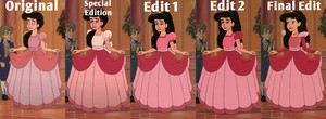 My Evolution of Melody's rosado, rosa Ballgown