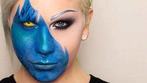 Mystique Face Paint pt. 1