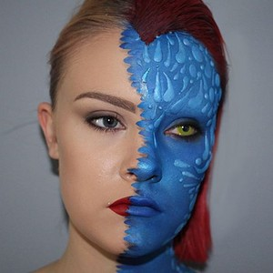 Mystique Face Paint pt. 2