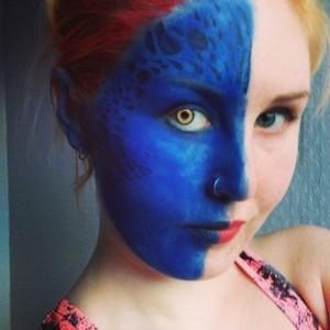 Mystique Face Paint pt. 3