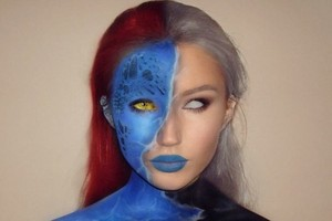 Mystique and Storm Face Paint pt. 1