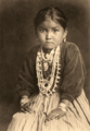 Native American child by Edward S. Curtis