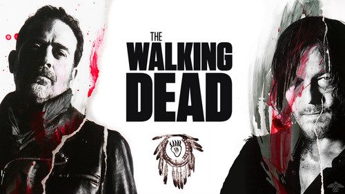 The Walking Dead karatasi la kupamba ukuta called Negan and Daryl Dixon
