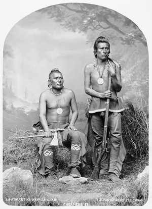 Night Chief and Man That Left His Enemy Lying In The Water -Pawnee 1868