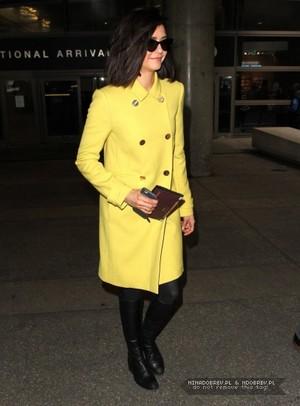 Nina Dobrev at the LAX International Airport, Los Angeles