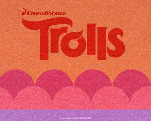 DreamWorks Trolls fondo de pantalla entitled naranja