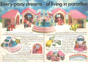 Paradise Estate Playset Advertisement