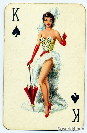 Pin Up Girl...Playing Card