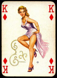 Pin Up Girl ..Playing Card