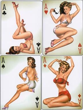 Pin Up Girls...Playing Card