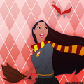 Pocahontas in Gryffindor House - childhood-animated-movie-heroines fan art