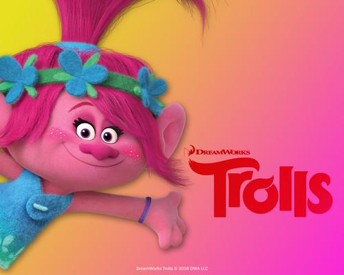 DreamWorks Trolls fondo de pantalla called amapola
