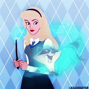 Princess Aurora in Ravenclaw House