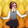 Princess Snow White in Hufflepuff House - childhood-animated-movie-heroines fan art