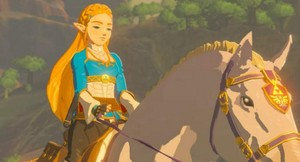 Princess Zelda's Beautiful Royal White Stallion