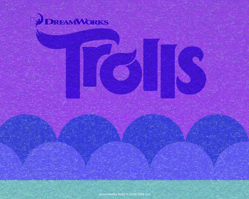 DreamWorks Trolls fondo de pantalla entitled Purple
