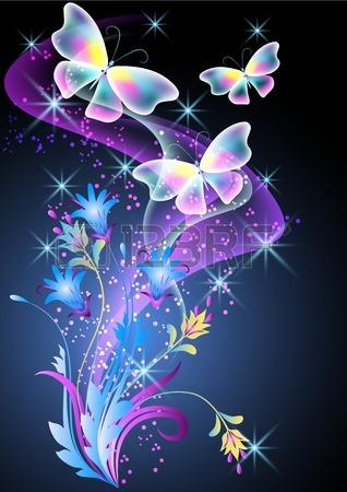 Schmetterlinge Hintergrund entitled regenbogen Schmetterlinge