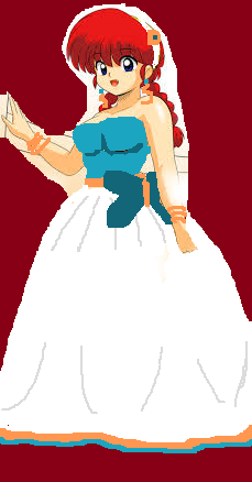 Ranma in wedding dress edited by me