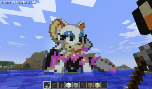 rouge the cool bat kertas dinding called Rouge The Bat Minecraft