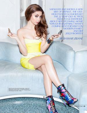 Sarah Hyland - Glamaholic Photoshoot - December 2012