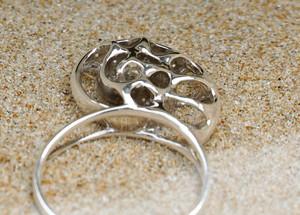 Silver Nautilus Ring unusual unique Birthday Gifts Seashell Ring Salvador Dali Slow Ring Vulcan Jewe