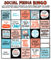 Social Media Bingo - being-a-woman fan art