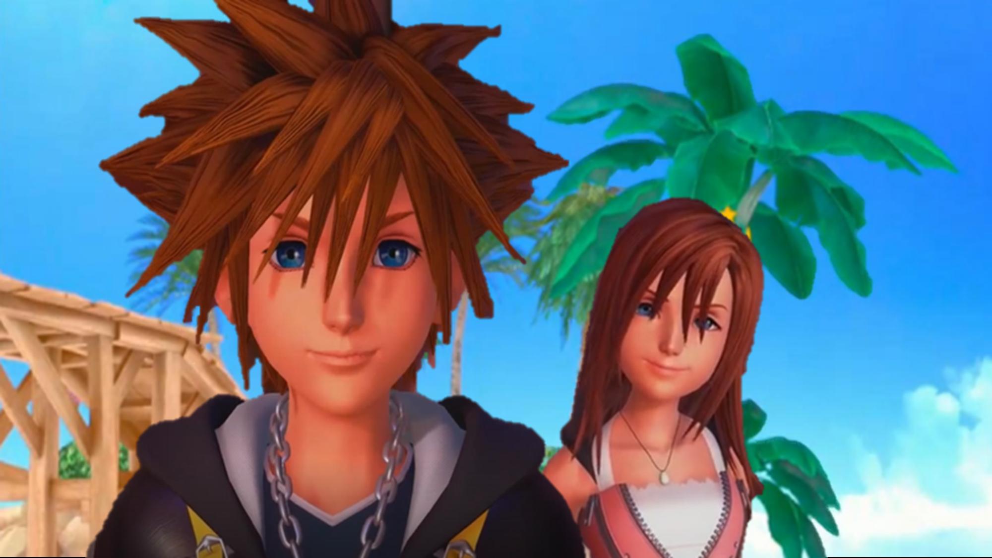Kairi & Sora Bilder Sora and Kairi HD Kingdom Hearts 0.2 Birth Von ...