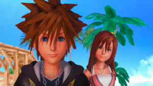 Sora and Kairi HD Kingdom Hearts 0.2 Birth kwa Sleep Fragmentary Passage.