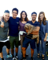 Teen lobo cast celebrates wrapping the mostrar