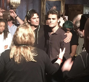 The Vampire Diaries series finale set photos