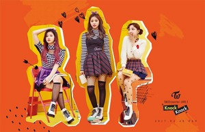 "Tzuyu's, Nayeon's, Sana's Group Teaser Image for ""Knock Knock''"