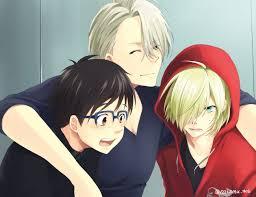 Viktor, Yuuri, and Yurio