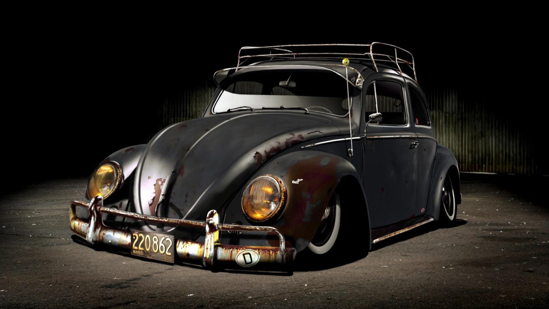 Volkswagen Beetle Fond Decran Titled Kafer Time