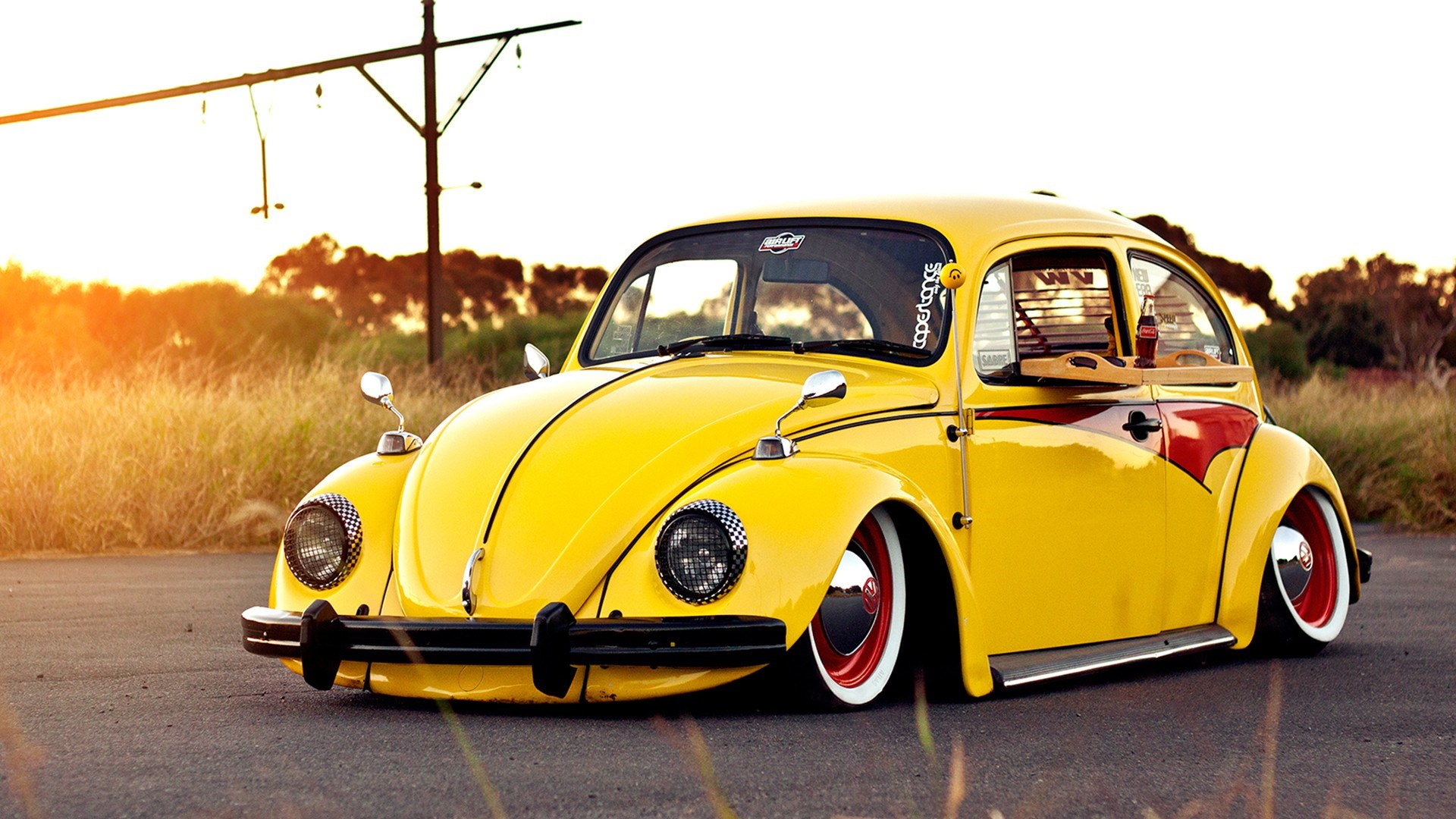 savage on dune beetle vw volkswagen wheels yellow