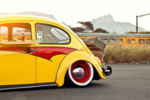 Volkswagen Beetle (Volkswagen Käfer): Yellow
