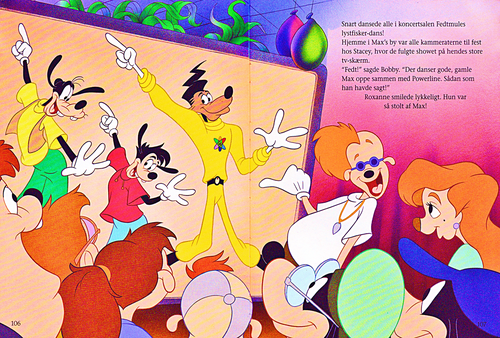 월트 디즈니 캐릭터 바탕화면 entitled Walt 디즈니 Book Scans – A Goofy Movie: The Story of Max Goof (Danish Version)