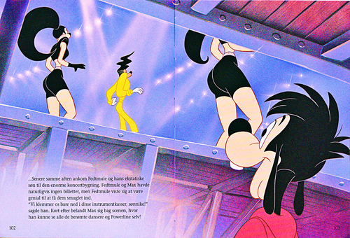 Walt Disney Characters karatasi la kupamba ukuta called Walt Disney Book Scans – A Goofy Movie: The Story of Max Goof (Danish Version)
