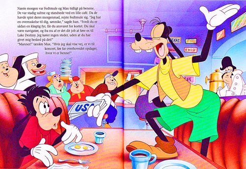 personnages de Walt Disney fond d'écran titled Walt Disney Book Scans – A Goofy Movie: The Story of Max Goof (Danish Version)